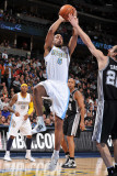 San Antonio Spurs v Denver Nuggets: Aaron Afflalo and Manu Ginobili Photographic Print by Garrett Ellwood