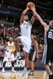 San Antonio Spurs v Denver Nuggets: Aaron Afflalo and Manu Ginobili Photographic Print by Garrett Ellwood