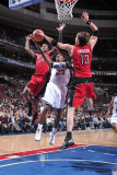 Toronto Raptors v Philadelphia 76ers: Lou Williams, Sonny Weems and David Andersen Photographic Print by David Dow