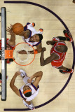 Chicago Bulls v Phoenix Suns: Channing Frye, Luol Deng and Jared Dudley Photographic Print by Christian Petersen