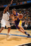 Los Angeles Lakers v Washington Wizards: Luke Walton and Trevor Booker Photographic Print by Andrew Bernstein