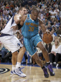 New Orleans Hornets v Dallas Mavericks: David West and Dirk Nowitzki Photographic Print by Danny Bollinger