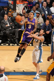 Los Angeles Lakers v Washington Wizards: Matt Barnes and Kirk Hinrich Photographic Print by Andrew Bernstein