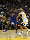 New York Knicks v Golden State Warriors: Amar'e Stoudemire and Vladimir Radmanovic Photographic Print by Ezra Shaw