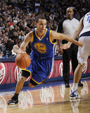Golden State Warriors v Dallas Mavericks: Stephen Curry and Dirk Nowitzki Photographie par Danny Bollinger