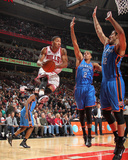 Oklahoma City Thunder v Chicago Bulls: Derrick Rose, Nenad Krstic and Thabo Sefolosha Photographic Print by Joe Murphy