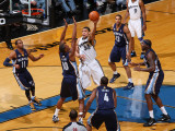 Memphis Grizzlies v Washington Wizards: JaVale McGee and Darrell Arthur Photographic Print by Ned Dishman