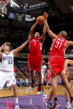 Houston Rockets v Sacramento Kings: Kyle Lowry and Francisco Garcia Photographic Print by Rocky Widner