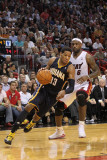 Indiana Pacers v Miami Heat: Danny Granger and LeBron James Photographic Print by Mike Ehrmann