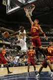Cleveland Cavaliers  v Indiana Pacers: Darren Collison and Jamario Moon Photographic Print by Ron Hoskins