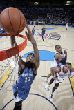 Minnesota Timberwolves v Oklahoma City Thunder: Corey Brewer, Russell Westbrook and Thabo Sefolosha Photographic Print by Layne Murdoch