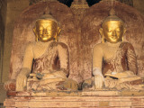 Buddha Statues with Gilded Faces Photographic Print by Alison Wright