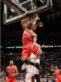 Chicago Bulls v San Antonio Spurs: Derrick Rose Photographic Print by D. Clarke Evans