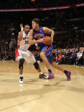 New York Knicks v Toronto Raptors: Danilo Gallinari and Leandro Barbosa Photographic Print by Ron Turenne