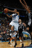 San Antonio Spurs v New Orleans Hornets: Willie Green and Tim Duncan Photographic Print by Layne Murdoch