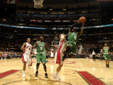 Boston Celtics v Toronto Raptors: Nate Robinson and Jose Calderon Photographic Print by Ron Turenne