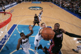 Miami Heat v Dallas Mavericks: Dwyane Wade and Dirk Nowitzki Photographic Print by Glenn James