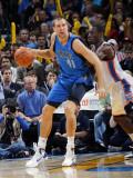 Dallas Mavericks v Oklahoma City Thunder: Dirk Nowitzki and Jeff Green Photographic Print by Layne Murdoch