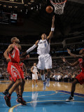 Houston Rockets v Dallas Mavericks: Shawn Marion, Shane Battier and Jordan Hill Photographic Print by Danny Bollinger