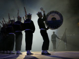 A Naval Band Performs with Bagpipes and Drums Photographic Print by Jim Richardson