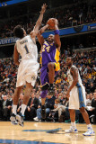 Los Angeles Lakers v Washington Wizards: Kobe Bryant and Nick Young Photographic Print by Andrew Bernstein
