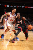 Miami Heat v New York Knicks: Dwyane Wade and Wilson Chandler Photographic Print by Nathaniel S. Butler
