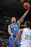 Minnesota Timberwolves v Denver Nuggets: Michael Beasley and Shelden Williams Photographic Print by Garrett Ellwood