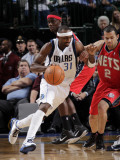 New Jersey Nets v Dallas Mavericks: Jason Terry and Jordan Farmar Photographic Print by Glenn James