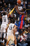Detroit Pistons v Memphis Grizzlies: Rodney Stuckey and Mike Conley Photographic Print by Joe Murphy