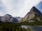 The Jagged Peaks of Glacier National Park Offer a Beautiful Vista Photographic Print by Michael Hanson