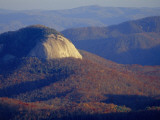 Looking Glass Rock, Surrounded by Forested Hills in Autumn Hues Stampa fotografica di Gehman, Raymond