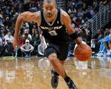 San Antonio Spurs v New Orleans Hornets: Tony Parker Fotografisk tryk af Layne Murdoch