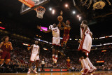 Cleveland Cavaliers  v Miami Heat: Joel Anthony and Daniel Gibson Photographic Print by Mike Ehrmann
