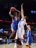 Golden State Warriors v Oklahoma City Thunder: Monta Ellis and Nenad Krstic Photographic Print by Layne Murdoch
