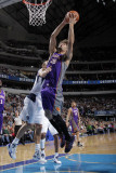 Phoenix Suns v Dallas Mavericks: Robin Lopez and Dirk Nowitzki Photographic Print by Glenn James