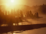 Twilight View of the Yellowstone River, Yellowstone, Wyoming Photographic Print by Raymond Gehman