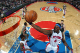 Milwaukee Bucks v Detroit Pistons: Ben Wallace Photographic Print by Allen Einstein