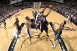 Memphis Grizzlies v San Antonio Spurs: Zach Randolph and Tim Duncan Photographic Print by D. Clarke Evans