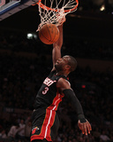 Miami Heat v New York Knicks: Dwyane Wade Photographic Print by Al Bello