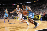 New Orleans Hornets v San Antonio Spurs: Willie Green and Tony Parker Photographic Print by D. Clarke Evans