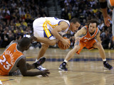 Phoenix Suns v Golden State Warriors: Stephen Curry, Jason Richardson and Steve Nash Photographic Print by Ezra Shaw