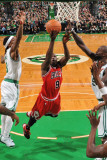 Chicago Bulls v Boston Celtics: Luol Deng and Kevin Garnett Photographic Print by Brian Babineau