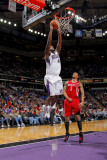 Houston Rockets v Sacramento Kings: Darnell Jackson and Courtney Lee Photographic Print by Rocky Widner