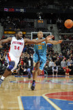 New Orleans Hornets v Detroit Pistons: Jason Maxiell Photographic Print by Allen Einstein
