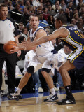 Utah Jazz v Dallas Mavericks: Jose Juan Barea and Earl Watson Photographic Print by Glenn James