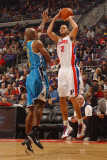 New Orleans Hornets v Detroit Pistons: Tayshaun Prince and Jarrett Jack Photographic Print by Allen Einstein