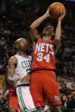 New Jersey Nets v Boston Celtics: Devin Harris and Ray Allen Photographic Print by Elsa .