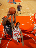 Charlotte Bobcats v New York Knicks: Wilson Chandler and Derrick Brown Photographic Print by Nathaniel S. Butler