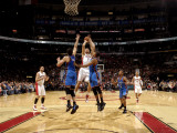 Oklahoma City Thunder v Toronto Raptors: Nick Collison, Thabo Sefolosha and Andrea Bargnani Photographic Print by Ron Turenne