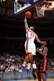 Miami Heat v New York Knicks: Wilson Chandler and LeBron James Photographic Print by Nathaniel S. Butler